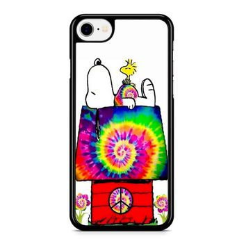 Snoopy And Woodstock Tie Dye Iphone 8 Case