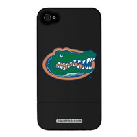 University of Florida - Gator Head design on a Black iPhone 4 / 4S Slider Case by Coveroo