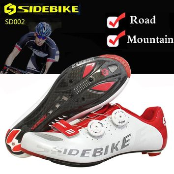 Cycling Shoes Men Bike Shoes Mountain Road Superfine Fiber Outside MTB Breathable M350 Carbon Fiber Sole Non-slip Bicycle Shoes