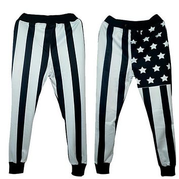 New Fashion Joggers Pants 3D Graphic Printed Black stripes&stars emoji Causal Sweatpants for Men/Women Hip Hop style Trousers