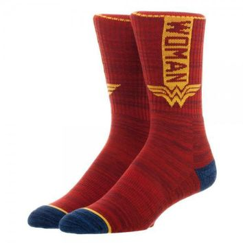 DC Comics Wonder Woman Vertical Text Socks