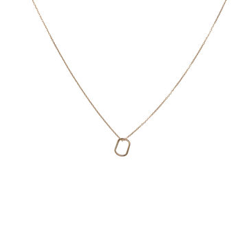 Rectangle Thin Necklace