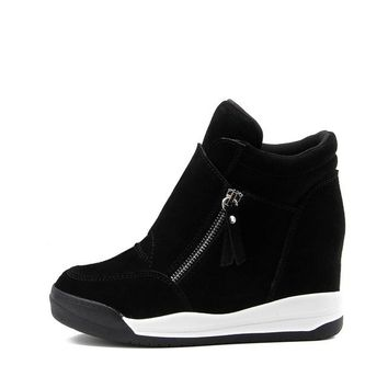 Wedge Shoes Hidden Heels Women's Casual Shoes For Women With Zipper Wedge