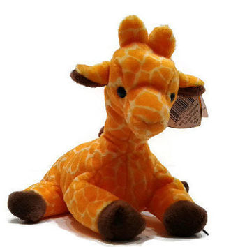 Free US Shipping, Ty Beanie Baby Twigs The Giraffe Plush Toy Stuffed Animal MWMT May 19 1995 Vintage Stuffed Toy, Vintage Plush, Collectible
