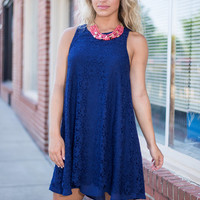 More Than Just A Pretty Lace Dress, Navy