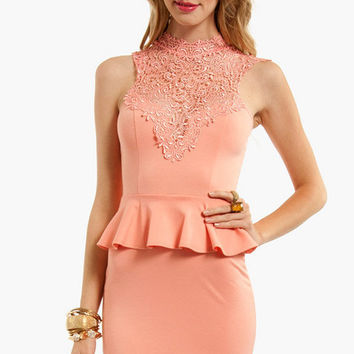Elizabeth Peplum Dress $54