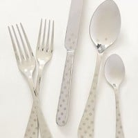 Polka Dotted Flatware by Anthropologie in Grey Size: One Size Flatware