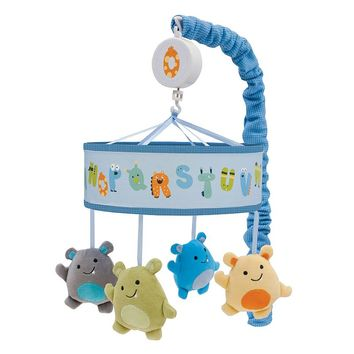 Lambs & Ivy Alpha Baby Musical Mobile (Blue)