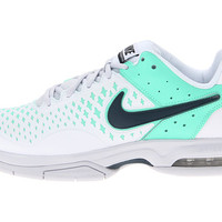 Nike Air Cage Advantage White/Geyser Grey/Green Glow/Armory Navy - Zappos.com Free Shipping BOTH Ways