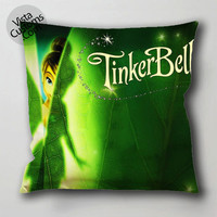 disney tinker bell pillow case, cushion cover ( 1 or 2 Side Print With Size 16, 18, 20, 26, 30, 36 inch )