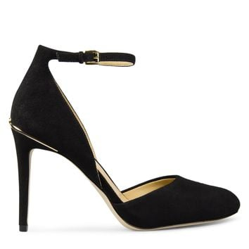 Michael Kors Georgia Heel Pump Women's - Black Suede
