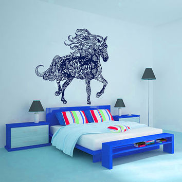 Wall Decals Decal Vinyl Sticker Horse Bedroom Dorm Hall Nursery Bathroom Kitchen Room Decor Home Playroom Window Interior Art Murals MN495