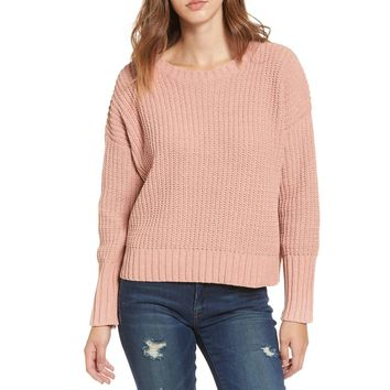 Drop Shoulder Chunky Knit Sweater