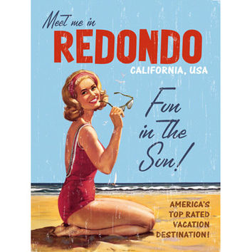 Personalized Redondo Beach Wood Sign