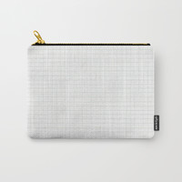 Greyscale Grid Carry-All Pouch by spaceandlines
