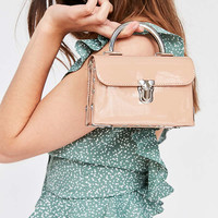 Faux Patent Leather Studded Crossbody Bag | Urban Outfitters