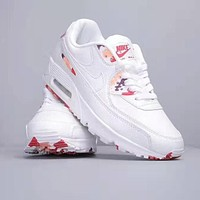 NIKE Air Max 90 Fashion Women Men Retro Casual Air Cushion Sport Running Shoes Sneakers White