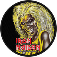 Iron Maiden Men's Killers Face Woven Patch Black