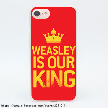 856X Harry Potter Weasley is Our King Hard Transparent Case for iPhone 7 7 Plus 6 6S Plus 5 5S SE 5C 4 4S