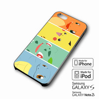 Pokemon Black Bulbasaur,Squirtle & Charmander,Pikachu iPhone case 4/4s, 5S, 5C, 6, 6 +, Samsung Galaxy case S3, S4, S5, Galaxy Note Case 2,3,4, iPod Touch case 4th, 5th, HTC One Case M7/M8