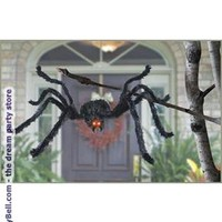 Animated Black Spider for Halloween