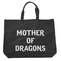 Mother of Dragons 2 Khaleesi Tote bags. Black or Natural color