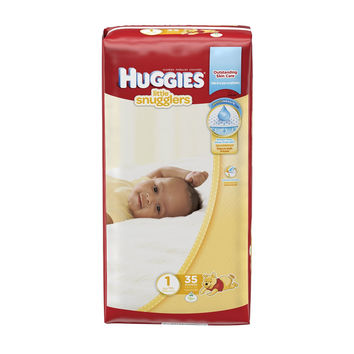 Huggies Little Snugglers Diapers - Size 1 - 35 Count Package