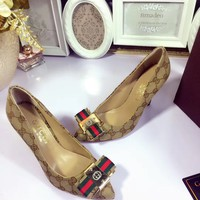 Gucci Women Fashion Casual Heels Shoes
