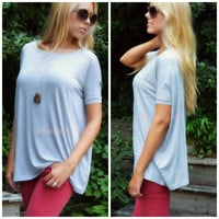 Boyfriend Piko Short Sleeve Heather Gray