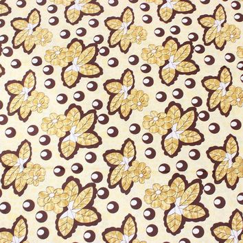 Brown Leaf Flower Fabric