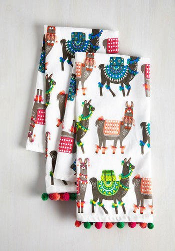dorm decor como se llama tea towel set by modcloth - Llama Christmas Decoration