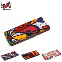 Purchase BRITTO Wallets For Coin & Photo Girl Long PU Handmade Money Clips Ladies Graffiti Hasp Clutch Purse Female Money Bag