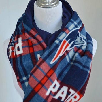Patriots Plaid scarf, Plaid scarf, New England Patriots scarf, Warm winter Scarf, Plaid flannel scarf