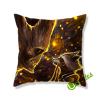 Guardians Of The Galaxy Groot Rocket Raccoon. Square Pillow Cover