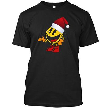 Pac Santa Hat Video Gamer Gamer Tee