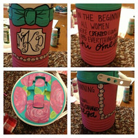 Personalized painted 1/2 gallon cooler by CreationsBySweetT