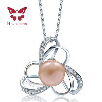 HENGSHENG 2016 Big Cross Pearl Necklaces & Pendants For Women Sailor Moon Jewelry Fine Pearl Jewerly Gift