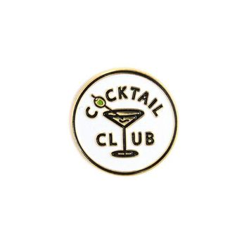 Cocktail Club Lapel Pin