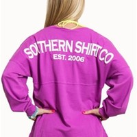 Southern Shirt Company Boardwalk Jersey Pullover in Radiant Orchid
