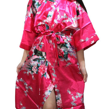Kimono Robe robes for bridal party bridesmaids kimono robes Personalized Robes Cotton Maternity robe Bridesmaid  Monogrammed wedding satin
