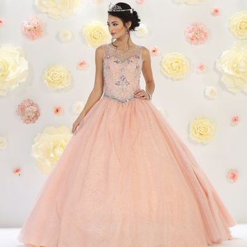 Quinceanera Long Sweet 16 Ball Gown Prom Dress