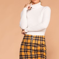 Stockton Mustard Plaid Skirt