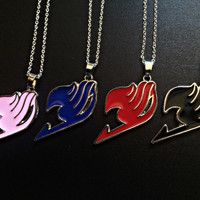 Cosplay Anime Fairy Tail Necklace - Natsu Dragneel Guild logo Pendant Manga Anime Jewelry Unisex