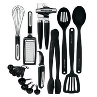 KitchenAid 17-piece Tools and Gadget Set, Black