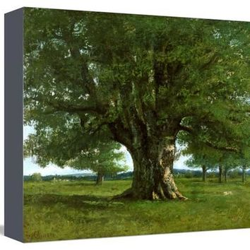 The Oak of Flagey, Called Vercingetorix Giclee Print by Gustave Courbet at Art.com