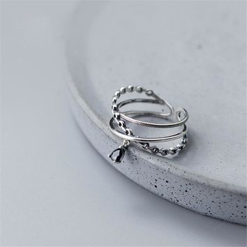 Vintage Boho Ring Anillos Real 925 Silver Jewelry Charm Minimalism Gift Haut Femme Bague Femme Aneis Punk Rings for Women