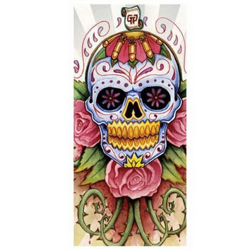 New Sugar Skull Printed Beach Towel