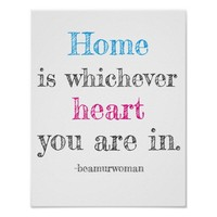 poster for framing home is which heart you are in