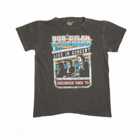 Bob Dylan and the Band Live in Concert Unisex Crew - Vintage Black