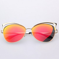 Fashion big box cat's eye sunglasses